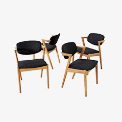 Oak Dining Chairs by Kai Kristiansen for SVA Møbler, Set of 4