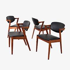 Teak Chairs by Kai Kristiansen for SVA Møbler, Set of 4