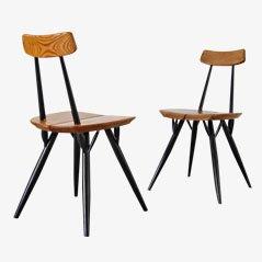 Pirkka Chairs by Ilmari Tapiovaara for Asko, 1950s, Set of 2