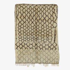 Vintage Moroccan Beni Ourain Berber Rug