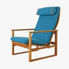 Model 2254 Slaedestolen Armchair by Børge Mogensen for Fredericia, 1950s