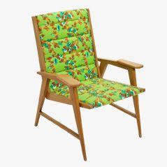 Französischer Sessel aus Eiche, 1950er