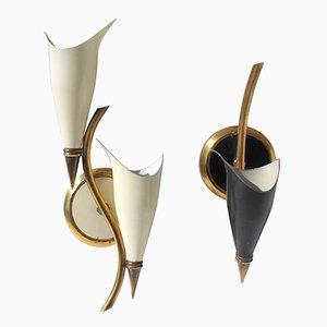 Kleine Wandlampen von Angelo Lelii für Arredoluce, 1950er, 2er Set