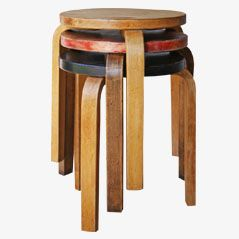 Pre-War Stools by Alvar Aalto for Artek, 1934, Set of 3