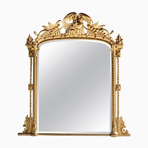 Grand Miroir de Cheminée Style Louis XV Antique, France