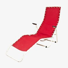 Red Lounger Chair from Everest, 1950s
