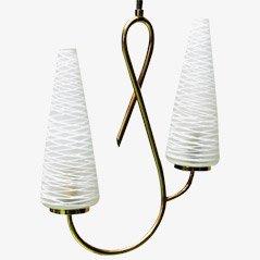 Lámpara colgante Pretzel Mid-Century, años 50