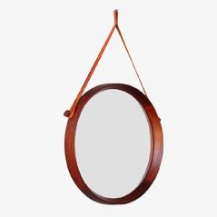 Teak Framed Wall Mirror by Uno & Osten Kristiansson for Luxus of Sweden, 1960