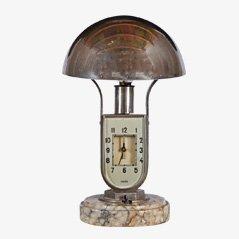Orologio da tavolo Art Déco con sveglia di Mofém, anni '30
