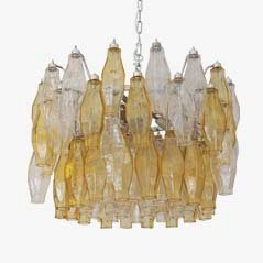Murano Glass Chandelier by Carlo Scarpa for Venini, 1950