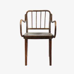 No. 63 Beech Armchair by Josef Frank for Thonet, 1930s