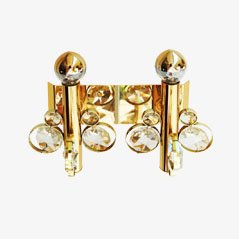 Vintage Cut Crystal Wall Sconce