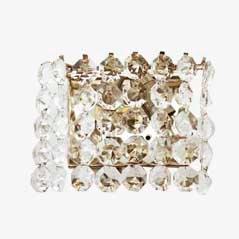 Vintage Kristall Wandleuchte aus Österreich von Bakalowits, 1960er