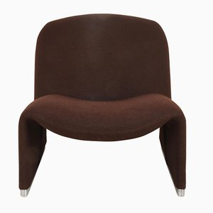 Italian Brown Alky Lounge Chair by Giancarlo Piretti for Castelli, 1970s