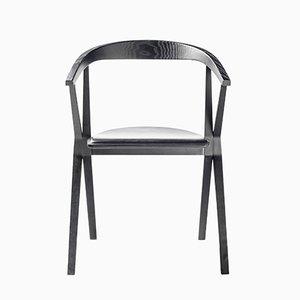 Chaise B en Frêne Laqué Noir par Konstantin Grcic pour BD Barcelona