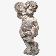 Cherub Cement Figure