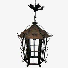 Lanterna vintage in ferro