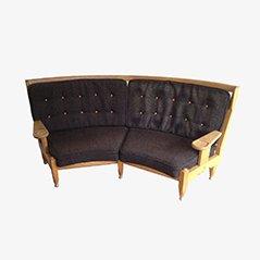 Gerundetes Sofa von Guillerne et Chambron