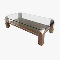 Vintage French Chrome Coffee Table