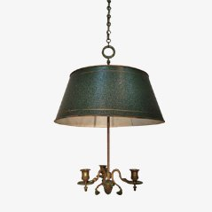 French Bronze & Tole Chandelier