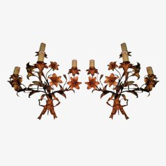 French Bronze Sconces, Set of 2