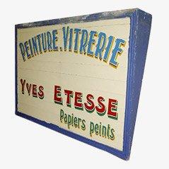 Señal francesa de madera pintada