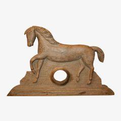 VIntage Holzfigur Uhrenaufhänger