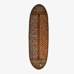 Escudo africano antiguo pintado