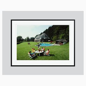 Von Oswald House Oversize C Print Framed in Black by Slim Aarons