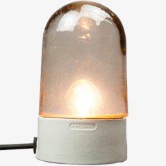 Vintage Bauhaus Lampe aus Glas mit Porzellan Fuß