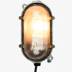 Small Vintage Industrial Turtle Wall Lamp from EOW