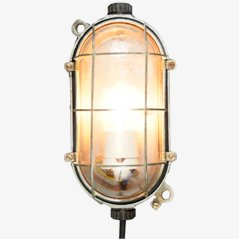 Medium Vintage Industrial Turtle Wall Lamp from EOW