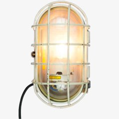 Large Vintage Industrial Turtle Wall Lamp with Click Cage from EOW