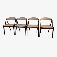 Vintage Rosewood Chairs by Kai Kristiansen, 1960s, Set of 4