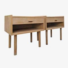 Oak Bedside Tables by Hans J. Wegner for Ry Møbler, 1960s, Set of 2