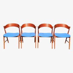 Teak Chairs by Kai Kristiansen for Korup Stolefabrik, Set of 4