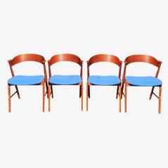 Teak Chairs by Kai Kristiansen for Korup Stolefabrik, Set of 4
