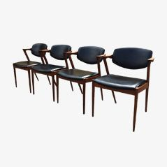 Model 42 Dining Chairs by Kai Kristiansen for Schou Andesen Møbelfabrik, Set of 4