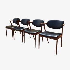 Model 42 Dining Chairs by Kai Kristiansen for Schou Andesen Møbelfabrik, Set of 4