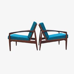 Rosewood Easy Chairs by Kai Kristiansen for Magnus Oleson, Set of 2