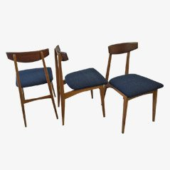 Chaises de Salon Vintage en Teck, Set de 3