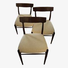 Deutsche Vintage Esszimmerstühle von Lübke, 1960er, 3er Set