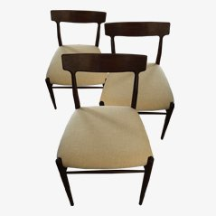 Vintage German Dining Chairs from Lübke, 1960s, Set of 3