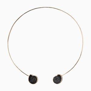 Black Ammonite Cuff Necklace by Sara Beltrán