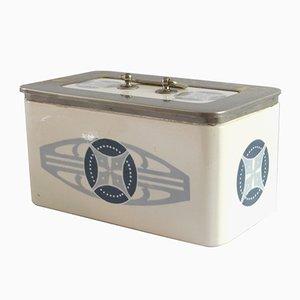 Caja de galletas modernista antigua de cerámica