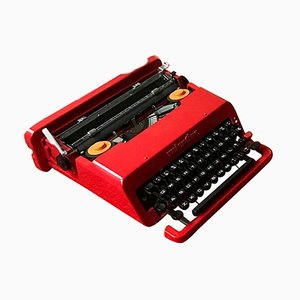 Italian Red Valentine Typewriter by Ettore Sottsass & Perry King for Olivetti Synthesis, 1970s