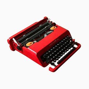 Italienische Rote Valentine Schreibmaschine von Ettore Sottsass & Perry King für Olivetti Synthesis, 1970er