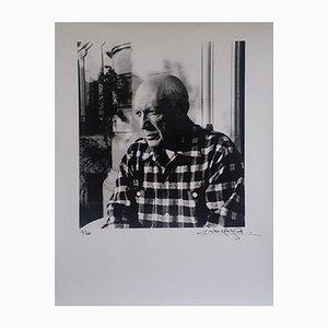 Porträt von Picasso, Druck, Lucien Clergue