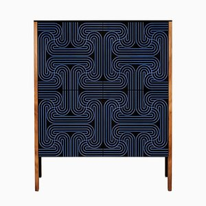 Armario en azul marino de bucle de 4 puertas de Coucou Manou