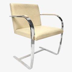 Sedia BRNO a base piatta di Ludwig Mies van der Rohe, anni '70